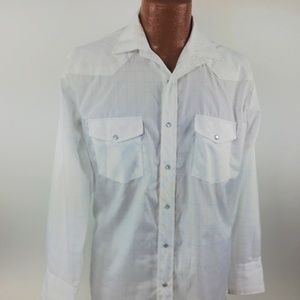 Roper Shirt Size M Long Sleeve Pearl Snap